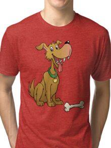 Cartoon dog with bone Tri-blend T-Shirt