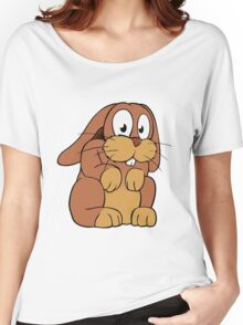 Cute cartoon rabbit with big eyes Women's Relaxed Fit T-Shirt
