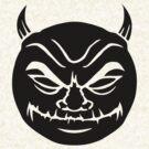 Black evil devil smiley  by Colin Cramm