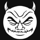 White evil devil smiley by Colin Cramm