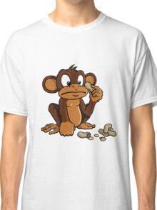 Cute cartoon monkey with peanuts Classic T-Shirt