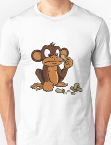 Cute cartoon monkey with peanuts T-Shirt