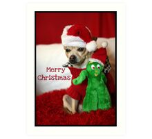 Holiday Greetings from Lacy & Gumby Art Print