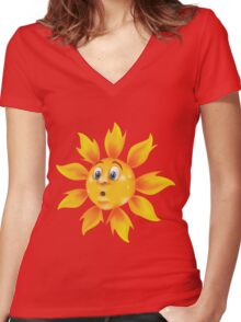 Sweating sun Women's Fitted V-Neck T-Shirt