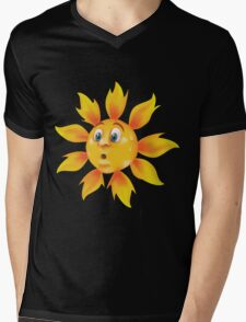 Sweating sun Mens V-Neck T-Shirt