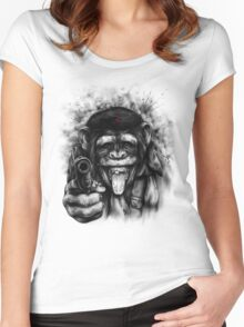 CHIMP GUEVARA Women's Fitted Scoop T-Shirt