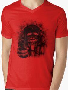 CHIMP GUEVARA Mens V-Neck T-Shirt