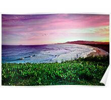Shellys Beach, Look-At-Me-Know-Headland, Emerald Beach Poster
