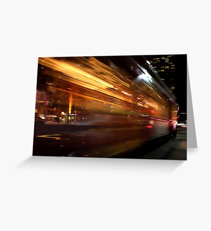 Streetcar Streaks Greeting Card