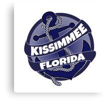 Kissimmee Florida anchor swirl Canvas Print