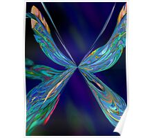 NEON BUTTERFLY INHABITS THE NIGHT TIME Poster