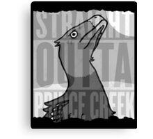 Dromaeosaurus - Straight Outta Prince Creek Canvas Print