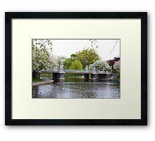 Boston Gardens Framed Print