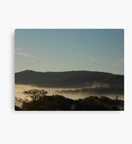 Morning Fog Layer Canvas Print
