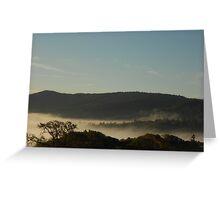Morning Fog Layer Greeting Card