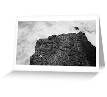 bw human and nature Greeting Card