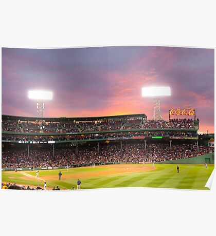 Red Sox Baseball game in Boston Poster