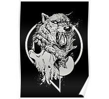 Inktober Wolf  Poster