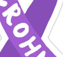 Crohn's Awareness Ribbon Sticker