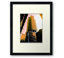 SkyScraper Ripples Framed Print