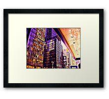 Broadway NYC heats up Framed Print