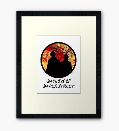 Bad Boys of Baker Street Modern Edition (Black) Framed Print