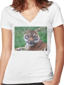 The Snarl Women's Fitted V-Neck T-Shirt