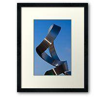 Twisted Steel Framed Print