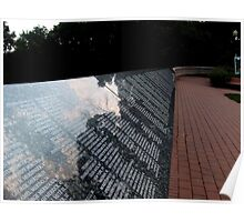 Wall Of Names: Remembering 9/11 Poster