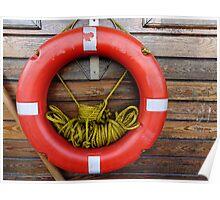 Eminönü SOS: a lifebuoy at the ferry dock Poster
