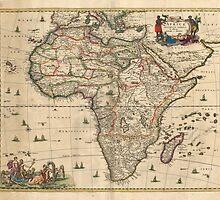 Vintage Map of Africa (1689) by BravuraMedia