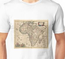 Vintage Map of Africa (1689) Unisex T-Shirt