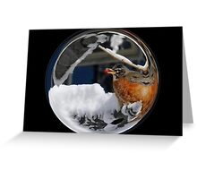 Cindy's Snow Globe's 10 Greeting Card