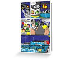 "Rick the chick  ""THE MAGIC SHELL (la grande metropoli) parte 39"" Greeting Card"