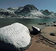 Merry Christmas on a rock by Frank Olsen