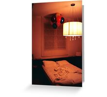 Bed Room Greeting Card