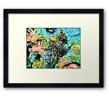 COMPETITION SPACE Framed Print