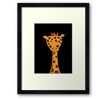 Lil Giraffe (in black) Framed Print