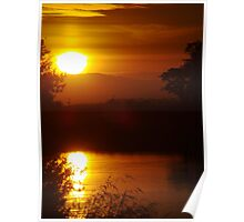 Sunset - Clutha River - Sterling - South Island - New Zealand Poster