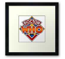 Classic Doctor Who Diamond Logo. Framed Print