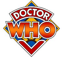Classic Doctor Who Diamond Logo. Photographic Print