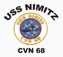 Crest of USS Nimitz (CVN-68)  Kids Tee