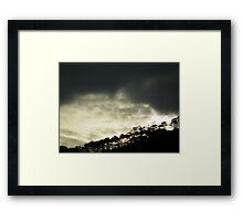Signal HIll with clouds Framed Print