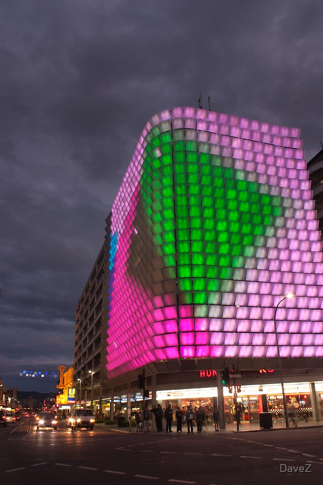 Night time light show pt2, Adelaide CBD. by DaveZ