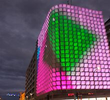 Night time light show pt2, Adelaide CBD. by DaveZ