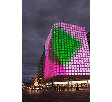 Night time light show pt2, Adelaide CBD. Photographic Print