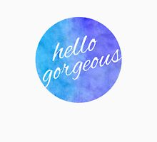 Watercolor Hello Gorgeous Blue and Purple Unisex T-Shirt