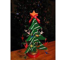 Origami Christmas Tree Photographic Print
