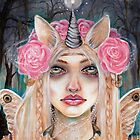 Unicorn Queen w Golden Eyes by KimTurner