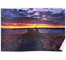 Sunrise at the Gloucester Point fishing pier Poster